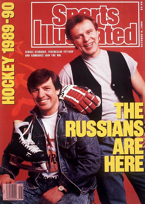 The head of a group of eight Soviet players who were allowed to join the NHL in '89-90, Fetisov's arrival landed him on the Oct. 9, 1989 cover of <i>Sports Illustrated</i> and led the way for future Russians to play in America. Said Fetisov: ''I won the biggest fight away from hockey. That was the fight against communism, the fight for freedom of choices.'' He played 10 NHL seasons and was elected into the Hall of Fame in 2001.