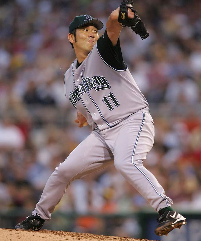 "Frustrated by a contract dispute with his Japanese employer, Nomo took his ""tornado"" windup and swept across the Atlantic Ocean, taking advantage of a loophole that allowed him to sign a contract with a U.S. team if he ""retired"" from baseball in Japan. In his first season in 1995, Nomo started the All-Star game and won the NL's Rookie of the Year, and one year later he used his trademark forkball to no-hit the Colorado Rockies -- in the Mile High City."