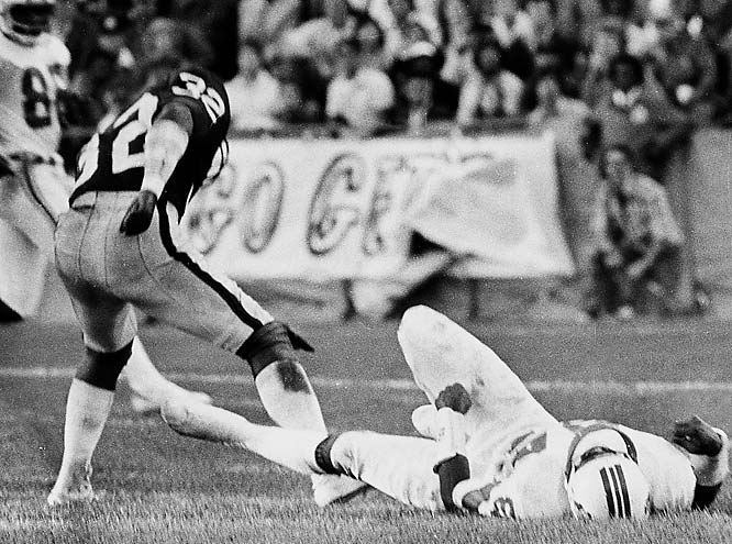 1971-1979 Oakland, 1980 Houston Oilers <br><br>For better or worse, Tatum has a fair-share of famous hits to his name. He is most often associated with his devastating hit against New England Patriots wide receiver Darryl Stingley in 1978, which damaged Stingley's spinal cord and left him paralyzed from the chest down.