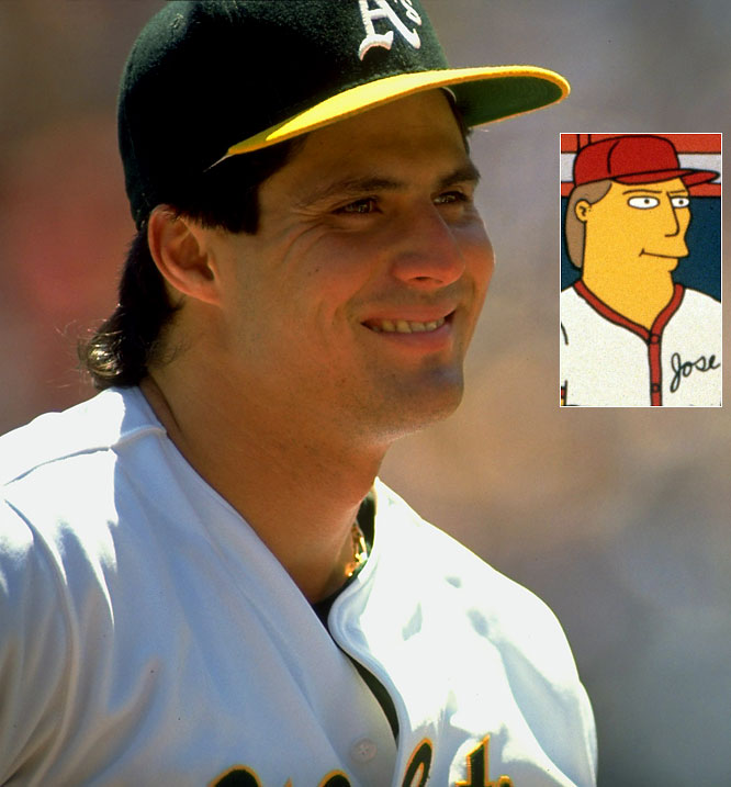 Episode: Homer at the Bat <br>First aired: Feb. 20, 1992 <br><br>Memorable moment: <br><br>While at an autograph session, Canseco is approached by Mr. Smithers, who is recruiting ringers for the company softball team. <br><br>Canseco: <i>I get $50,000 to play one game?</i> <br>Smithers: <i>That's right Mr. Canseco.</i> <br>Canseco: <i>Well, it's a pay cut, but what the hey. It sounds like fun.</i>