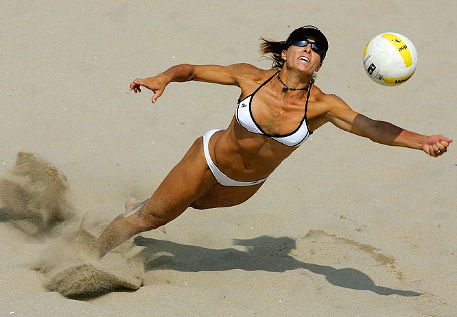 McPeak, 38, is a beach legend. Competing on the sand since 1987, McPeak, 5-7, has 72 career victories, the most ever until May-Treanor and Walsh passed her in May. McPeak has won more than $1.5 million in career prize money, a women's record.