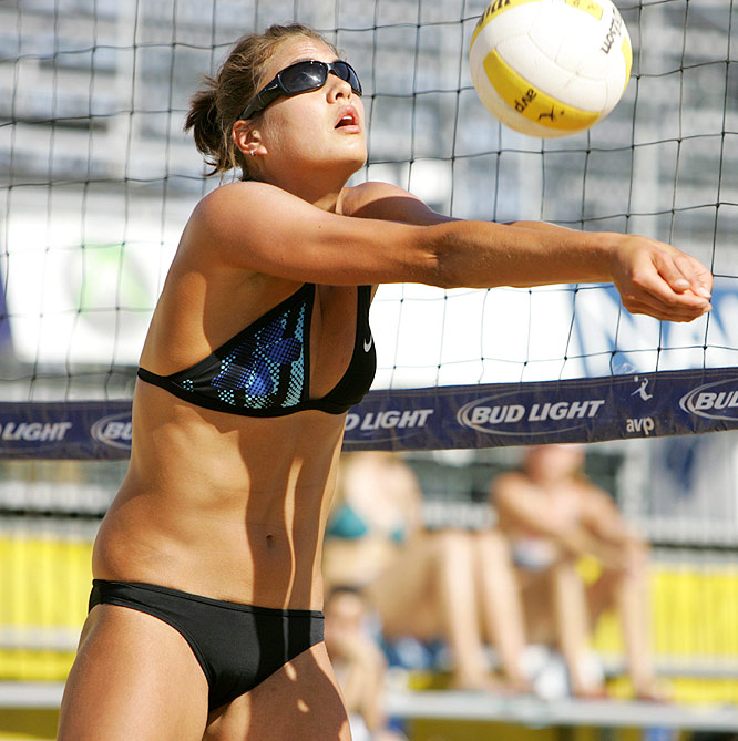 Tom, 26, is an accomplished indoor player in her second year on the sand. She was a four-year first-team All-America at Stanford and two-time NCAA Player of the Year. She is currently teaming with McPeak and they reached their first final in May at Louisville.