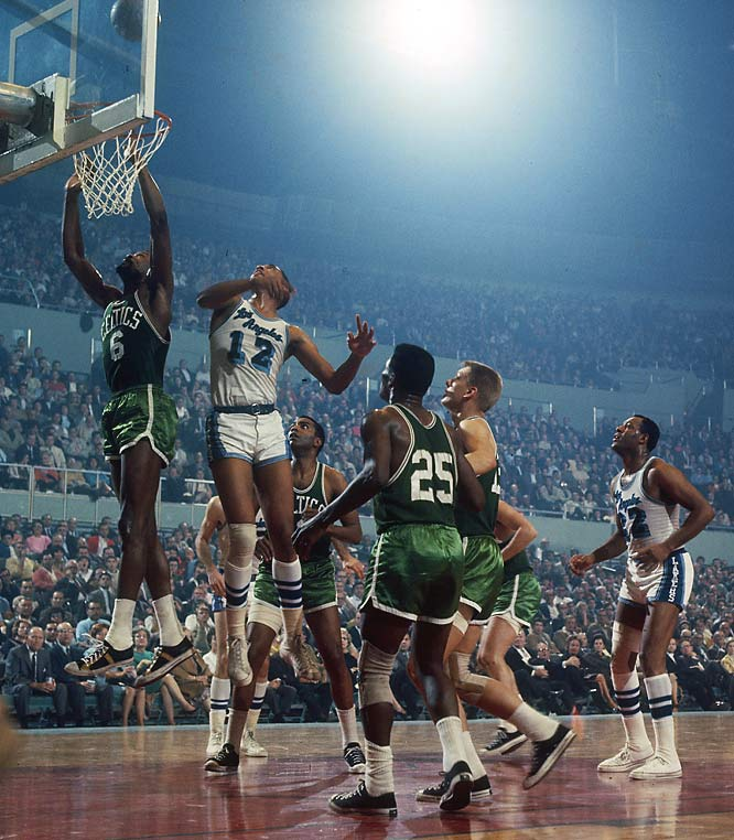 Bill Russell averaged 25.2 rebounds and 19.1 points during the '66 playoffs.