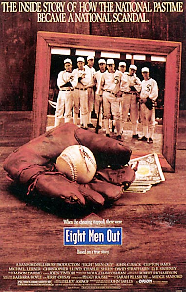 Auteur John Sayles tackles the 1919 Black Sox scandal, telling the complex story completely. He gets brilliant, understated performances out of Strathairn (as game-fixing pitcher Eddie Cicotte) and Cusack (as apparently innocent third baseman Buck Weaver).