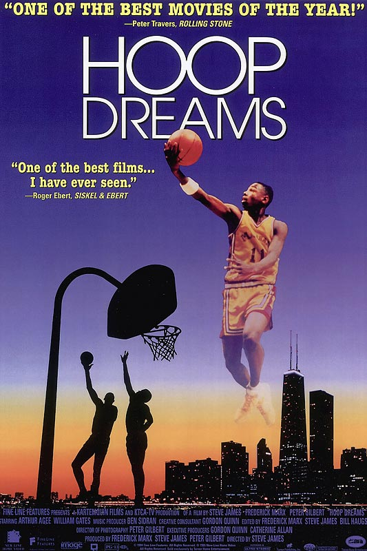 It's almost three hours long but director Steve James's saga of Chicago basketball stars William Gates and Arthur Agee is worth every minute. An air of dread hangs over this cautionary tale, as its protagonists confront the inevitable disappointments of hoops after high school.