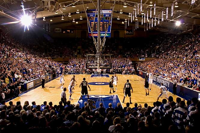 Opened in 1940 for a cost of $400,000, Cameron Indoor is home to Duke's championship basketball teams and their sixth man, the Cameron Crazies. Cameron is one of the last college venues to have the student body in the best seats in the house, and because of that the bandbox arena continues to thrive despite rival schools building more expensive and modern homes for their teams.