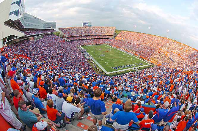 "Officially known as Ben Hill Griffin Stadium at Florida Field, ""The Swamp"" was given its nickname by the 'Ole Ball Coach, Steve Spurrier, in the early 1990s. It certainly has been a comfortable home for the Gators: the defending national champions, cheered on by 90,000 who pack the Swamp on game days, have only lost five games at home since 1990 (not counting Ron Zook's forgettable three years)."
