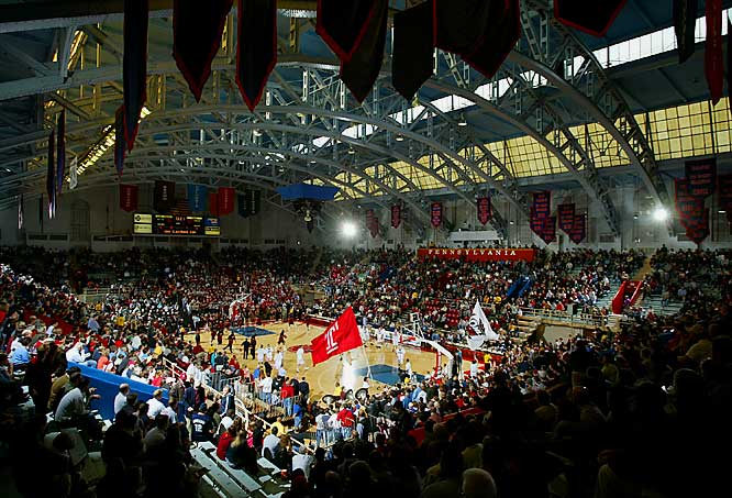Built in 1927, the Palestra is one of the oldest major college arenas still in use. Having hosted more games, more visiting teams and more NCAA tournaments than any other facility, it is a historical gem. And with a seating capacity of 8,722 and bleachers that run right to the court, fans are made to feel a part of that history.