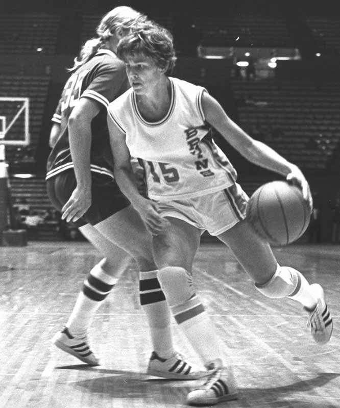 The first female to be awarded a four-year athletic scholarship, Meyers led UCLA to the national championship in 1978 and was recognized as the top female athlete in the country that same year.