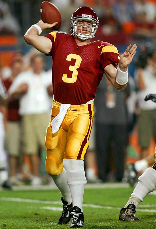 Palmer won the Heisman Trophy as a senior in 2002 and was selected as the top pick in the '03 NFL Draft. Palmer is the Pac-10 all-time leader in passing yards (11,818), completions (927) and total offense (11,621).
