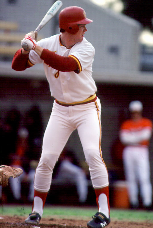 After pitching effectively as a freshman, McGwire also began playing first base as a sophomore to get into the lineup every day. McGwire gave up pitching as a junior in 1984, his last college season, and he set a school record with 32 home runs on his way to becoming an All-American and a first-round draft pick of the Oakland Athletics.