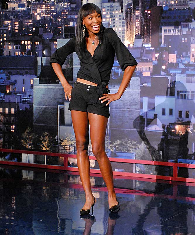Meanwhile, Serena's sister, Venus, read the Top 10 list on Late Show with David Letterman after winning Wimbledon last weekend.