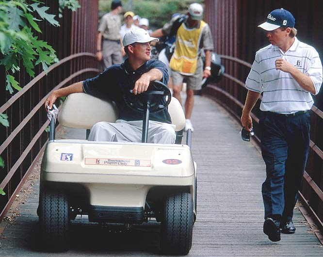 Martin took on the PGA Tour and won, getting a 7-2 ruling from the Supreme Court in 2001 so he could ride a cart in tournaments. A birth defect in his right leg made it too painful for him to walk 18 holes.
