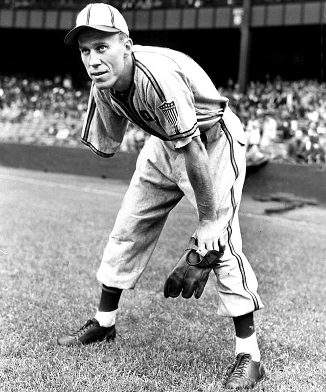 "Of the numerous hardship athletes, including Hall of Fame pitcher Mordecai ""Three Finger"" Brown, who predated our 40-year radius, the one we just couldn't leave out is Pete Gray, a one-armed outfielder who played one season with the St. Louis Browns in 1945. A natural righthander, Gray lost the limb as a kid when he slipped off and fell under his father's truck. In 77 appearances with the Browns, Gray hit .218 with 13 RBI and had a .958 fielding percentage."