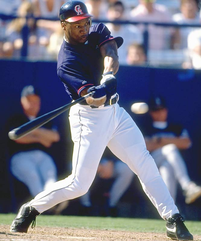 After avascular necrosis led to the deterioration of the cartilage and bone around his left joint, Jackson was forced to get an artificial hip in 1991 and said goodbye to his NFL career. But the two-sport star went on to hit a career-high .279 with 13 homers in 1994 for the Angels.