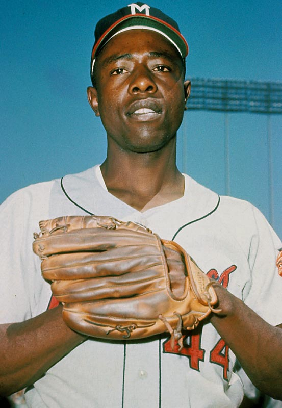 Hank Aaron began his career with the Braves in 1954 in Milwaukee, where the team would play until moving to Atlanta after the 1965 season.