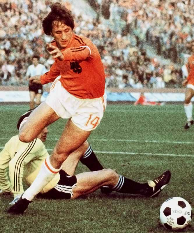 The Dutch soccer master was voted the European Player of the Century in 1999 and was named European Footballer of the Year three times (1971, 1973, 1974). His fans were not pleased we chose Pete Rose at No. 14.