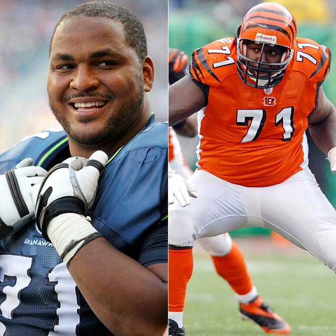 Did we overlook two of today's best lineman? Most consider Jones the best at his position. The Seahawks left tackle has made six consecutive trips to the Pro Bowl and helped Shaun Alexander rumble for a league best 1,880 yards in 2005. Anderson, who will enter his 12th season with the Bengals, has made the last four Pro Bowls and is considered one of the best tackles in football. We had Alex Karras at the number.