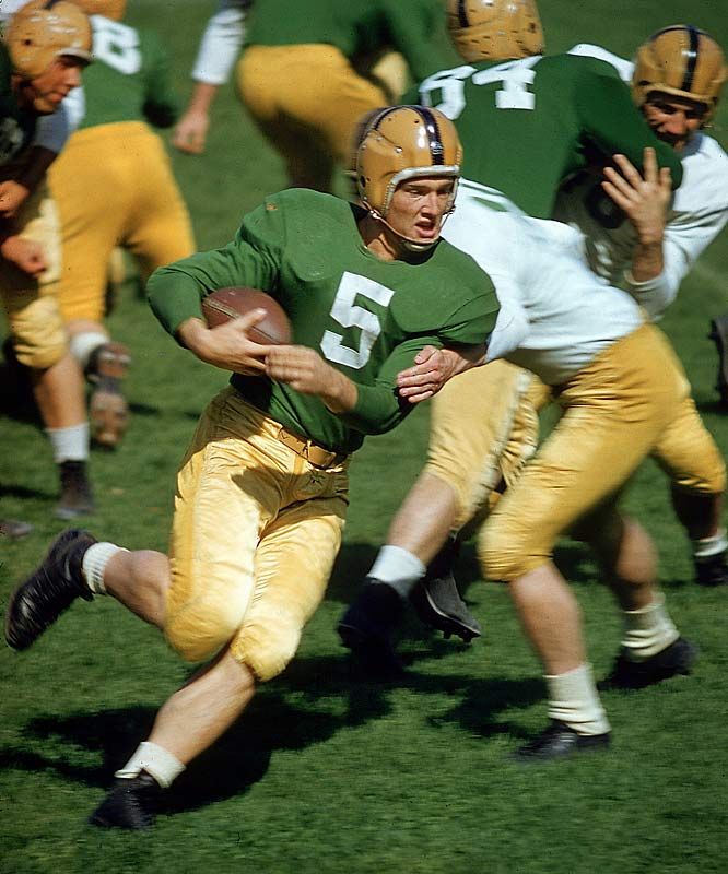 "Known as the ""Golden Boy,"" the Green Bay Packers running back, along with Detroit Lions defensive tackle Alex Karras, was suspended for the 1963 season by NFL Commissioner Pete Rozelle. The ruling came after the two players were shown to have bet on NFL games and associated with unsavory gamblers."