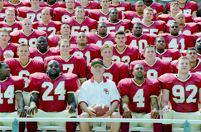 """The  New York Post  may have said it best about the Boston College football gambling scandal when it took the school's BC initials and made a front page headline of """"Betting College."""" When all was said and done in the investigation, 13 players were suspended for the season after an Oct. 26, 1996, loss to Syracuse. Six were hit with permanent bans."""
