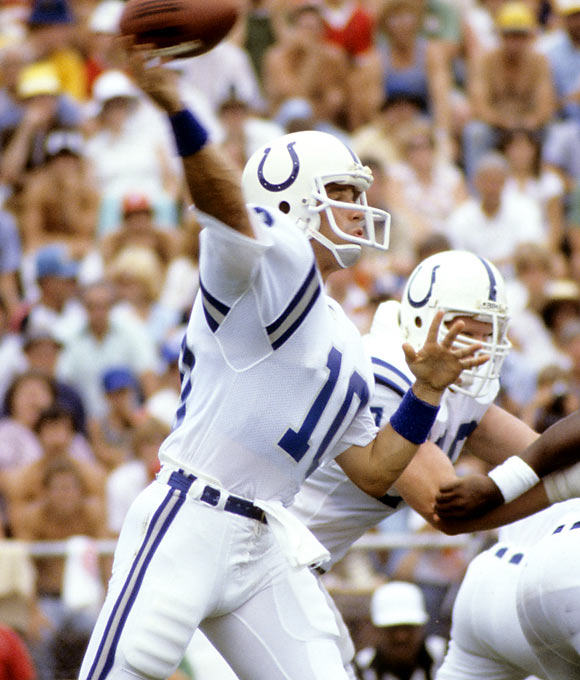 The former first-round NFL draft pick (No. 4 overall by the Baltimore Colts in 1982) threw away his promising career because of his gambling addiction. In 1983, Schlichter was suspended for a season by the NFL because he bet on NFL games. His life went into a downward spiral, resulting in more than 10 convictions for theft, forgery and fraud.