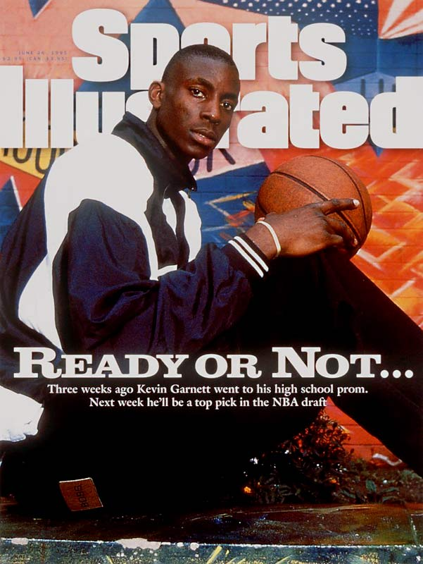 The Timberwolves picked the 6-11 phenom from Farragut Academy (Chicago) with the fifth pick in the 1995 draft. Garnett became the first player to jump directly from high school to the NBA since Darryl Dawkins and Bill Willoughby in 1975. Garnett sparked a trend, as prep stars Kobe Bryant, Tracy McGrady and LeBron James, among others, would follow in subsequent years before the NBA instituted an age restriction for the draft in 2005.