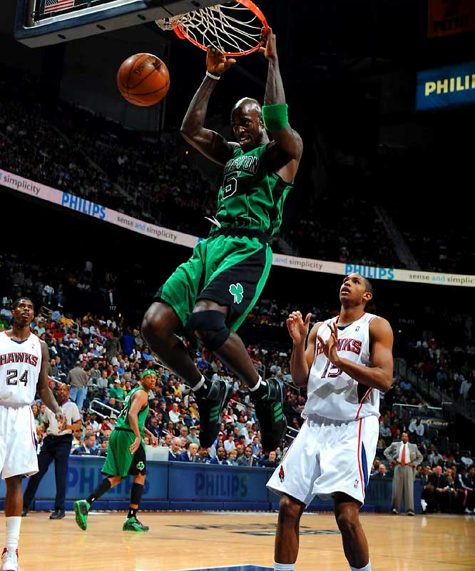 Coming off a 32-50 season in 2006-07, the Wolves shifted into full-scale rebuilding mode by dealing Garnett to the Celtics for young players and draft picks. Teaming with Paul Pierce and Ray Allen, Garnett helped engineer the biggest turnaround in NBA history as the Celtics jumped from 24 to 66 victories. Garnett also won the 2007-08 Defensive Player of the Year award.