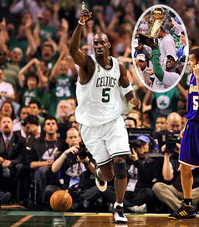 Garnett and the Celtics survived three tough playoff series to reach the 2008 Finals, the franchise's first time in the championship round since 1987. Kobe Bryant and the Lakers awaited the Celtics in a renewal of the NBA's premier rivalry.
