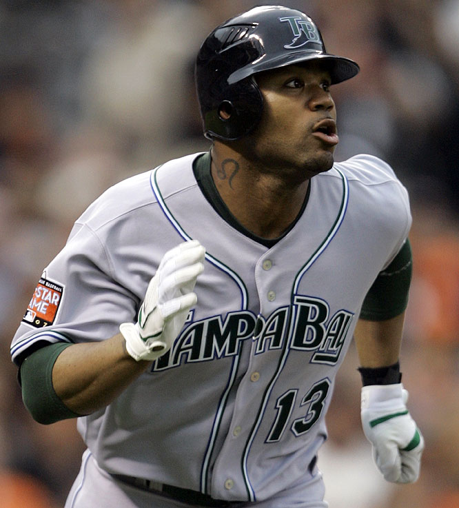 Devil Rays outfielder Carl Crawford connected on a solo shot in the sixth to extend the AL lead to 3-1.