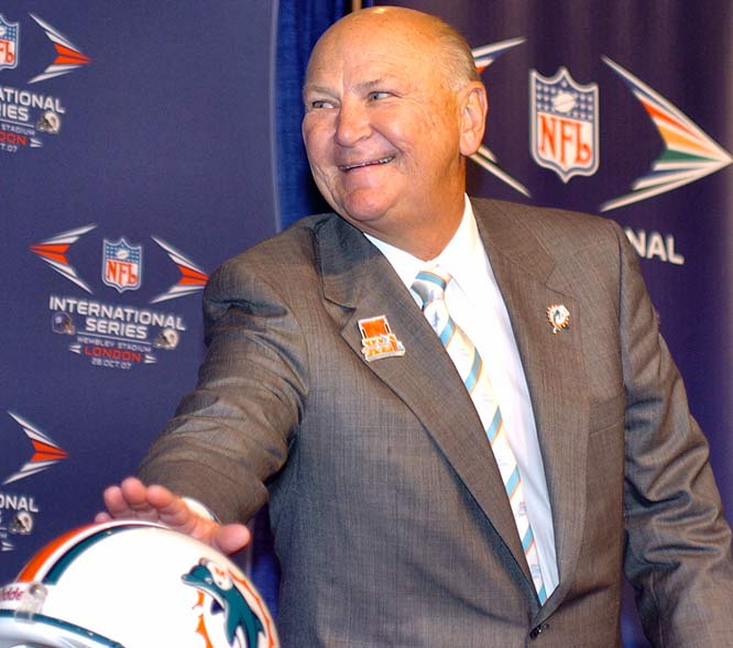 Once arguably the NFL's premiere franchise, winning nine AFC East titles and two Super Bowls in the 1970s and 1980s, Miami has failed to reach a conference championship game since Huizenga bought the team in 1990.