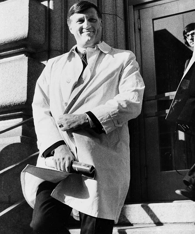 In 1974, the Yankees owner pleaded guilty to 14 federal counts connected to Richard Nixon's 1972 re-election campaign, including making illegal contributions and obstructing justice. Steinbrenner was originally suspended from baseball for two years -- later reduced to just nine months -- but his name was cleared when Ronald Reagan pardoned him in 1989.