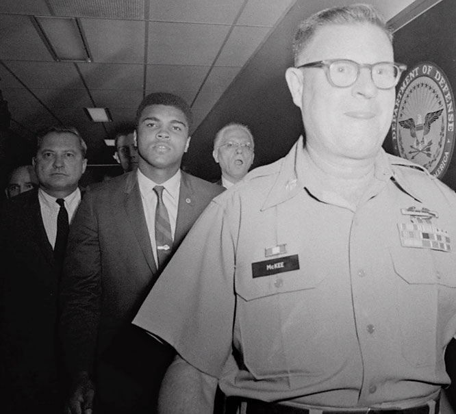 For his objections to the Vietnam War, Ali was convicted of draft evasion by a federal court in 1967. He was released on bond as he appealed the five-year sentence, and as public sentiment against the war grew, the U.S. Supreme Court overturned the conviction with a unanimous decision four years later.