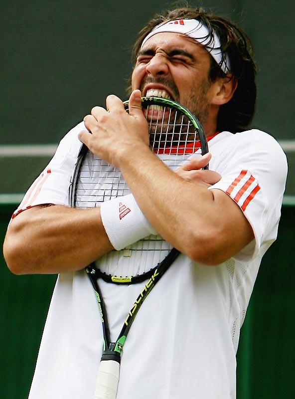 Marcos Baghdatis at Wimbledon in 2007.