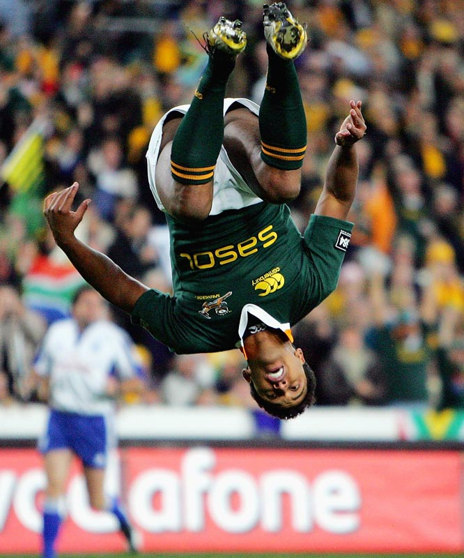 Breyton Paulse at the Tri Nations match between the Australian Wallabies and the South African Springboks in 2007.