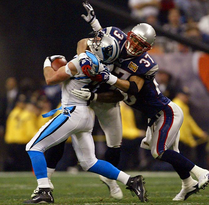 When Harrison signed with the Patriots in 2003, he became an integral part of the team's dynasty-driving defense. His reputation shifted from a player known for racking up fines and dirty plays to one known for crushing hits and dominating play. He's 34 and coming off an injury, but his incredible instinct should make up for his declining physical skills.