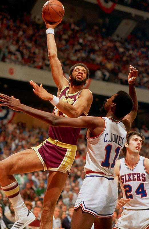 In one of the all-time biggest trades in team sports, the Lakers acquired Abdul-Jabbar from Milwaukee for center Elmore Smith, guard Brian Winters and forwards Dave Meyers and Junior Bridgeman. While youngsters Meyers, Bridgeman and Winters were productive players for the Bucks, Abdul-Jabbar proceeded to win three more MVPs and was a part of five championship teams with the Lakers.