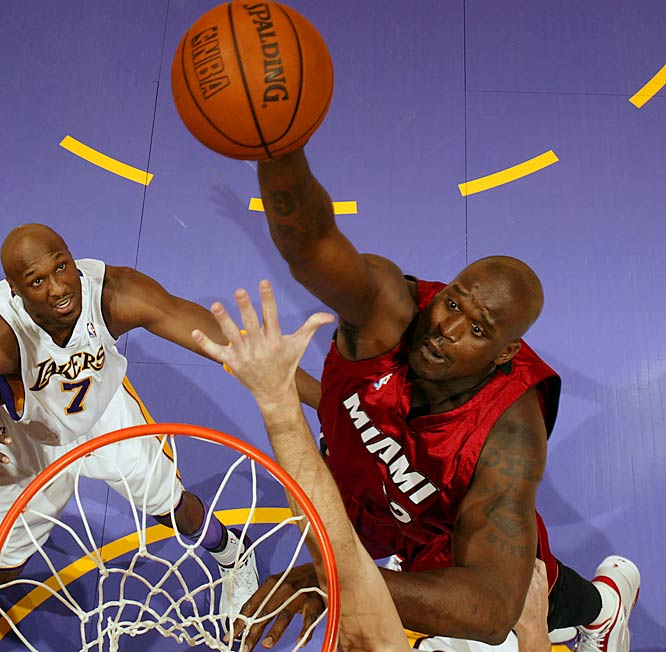 Dealt to Miami for Lamar Odom, Caron Butler, Brian Grant and two draft picks in July 2004, Shaq won a title in his second season with the Heat. The Lakers haven't advanced past the first round in three seasons since the big fella's departure.
