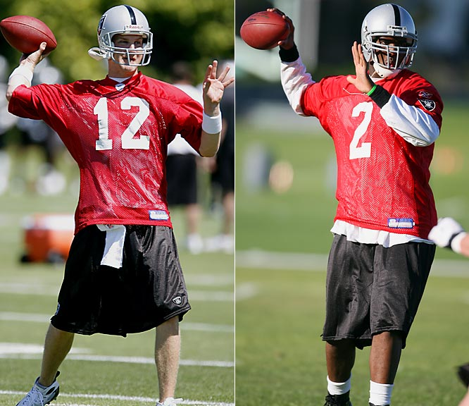 The Raiders know Russell, the No. 1-overall pick, is the quarterback of the future, but they don't want to rush him, which is why they got McCown. McCown will likely adjust to new coach Lane Kiffin's system more quickly than Russell. If Russell doesn't win the job out of camp, the question is how long he will remain on the bench. Veteran quarterback Daunte Culpepper could also figure in the mix, as there are reports the Raiders are talking to him.