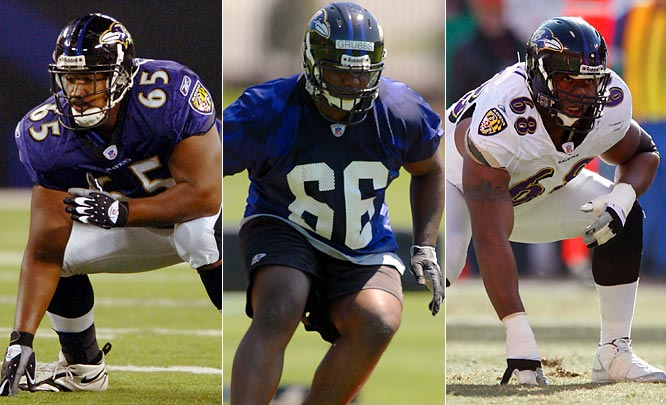 The Ravens are giving first-round pick Grubbs the chance to fight for the starting spot, but he is still adjusting to the right side of the line. Unless the Ravens move second-year veteran Chester to center, the right guard job is likely Grubbs' coming out of camp.