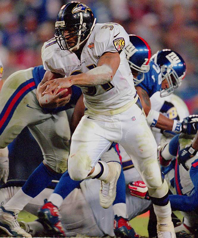 In Super Bowl XXXV, Lewis took the field for the Ravens at 21 years, 155 days as Baltimore beat the New York Giants 34-7. Lewis rushed for 103 yards and scored a touchdown.