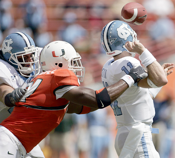 Campbell is arguably the best defensive end in the country. His imposing size (6-foot-8, 280 pounds) and speed off the edge make him a terror against the pass. Campbell led the ACC with 20.5 tackles for loss and finished third with 10.5 sacks.<br><br>Send comments to siwriters@simail.com.