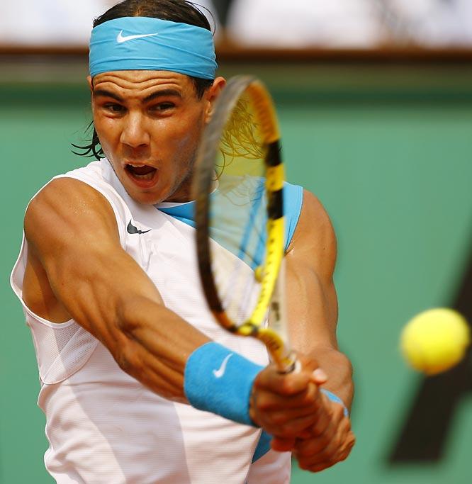 Rafael Nadal's biceps.