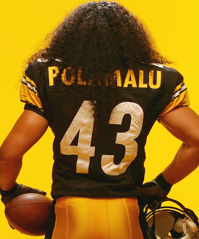 Troy Polamalu's hair.