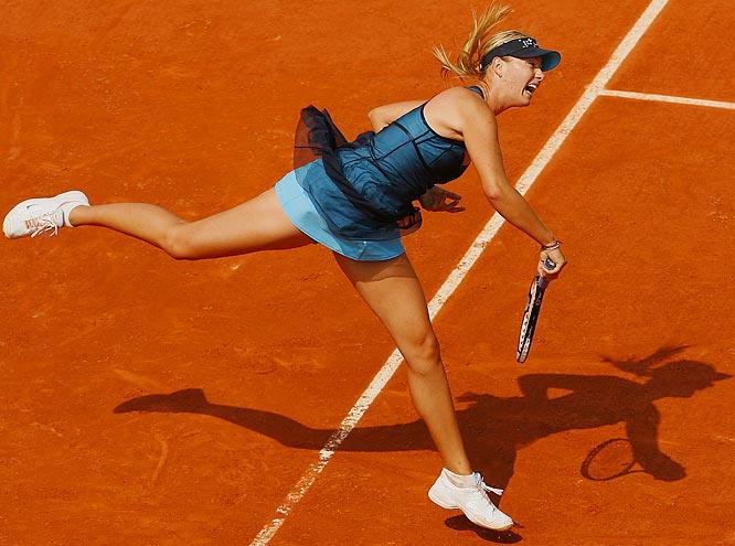 Maria Sharapova's long, athletic legs.