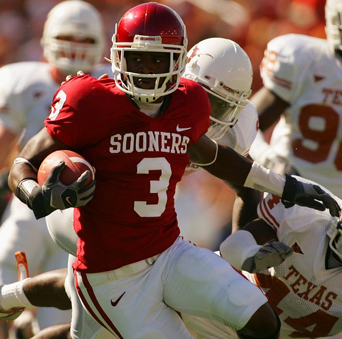 The preseason Big 12 Defensive Player of the Year will probably play corner this season, but he was a first team All-Big 12 performer at strong safety in 2006. The versatile playmaker also handles all return duties for the Sooners.