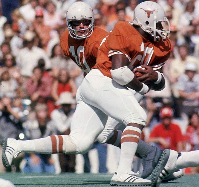 Campbell is remembered as much for his style on the field as his grace and commitment to academics off of it. As a freshman in 1974, he ran for 928 yards and received the SWC Newcomer of the Year Award. He gained over 1,000 yards as a sophomore, but was slowed by a hamstring injury during his junior season. He came back strong as a senior, rushing for 1,744 yards and winning the Heisman Trophy.