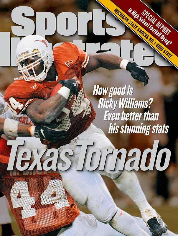 During his four years in Austin, Williams set NCAA career records for rushing yards (6,279), rushing touchdowns (73), and points (452). In 1998, he became the second Longhorn to win the Heisman Trophy (joining Earl Campbell).