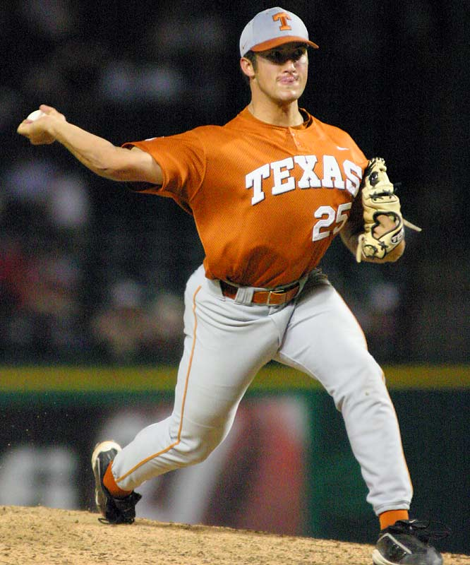 Street earned All-American honors during all three of his seasons at Texas and led the Longhorns to three appearances in the College World Series. As a freshman in 2002, he set a CWS record for the most saves (four) and was named the  Most Valuable Player as the Longhorns won the national championship. Street, whose father James quarterbacked Texas to the 1969 national title, went a combined 18-3 with 41 saves and a 1.31 ERA in 105 career appearances.