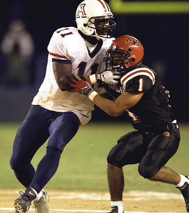 McAlister was a defensive force for the Wildcats, earning All-Pac-10 honors three times (1996, 1997 and 1998) and All-America honors once (1998). He also became the first player in school history to score a touchdown on an interception, a kickoff return and a punt return in the same season.