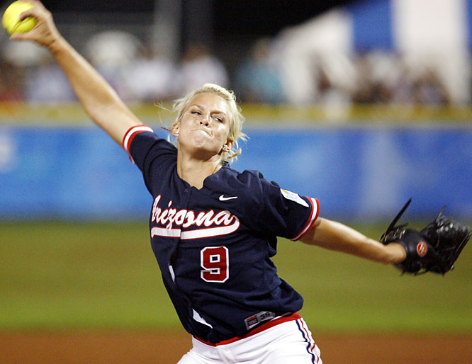 She's only been at Arizona for two years, but what a two years it has been. She led the Wildcats to national championships both seasons and set WCWS records for strikeouts, innings pitched, complete games, victories and was named the tournament's Most Outstanding Player during last season's run to the title.